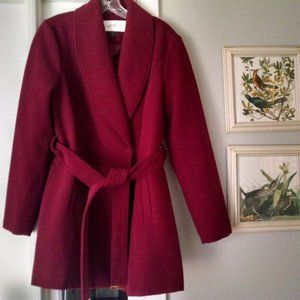 Jacklyn Smith Collection New Burgundy Coat Size M